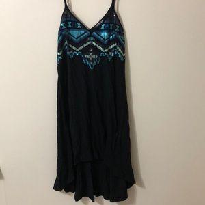 Express Sequin Aztec Dress 🖤💙